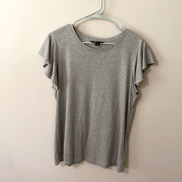 Land's End Large grey t-shirt blouse. Never worn!
